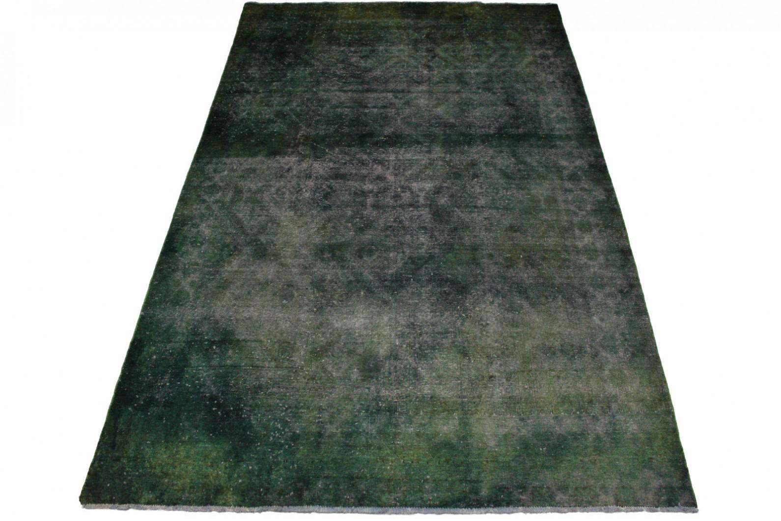 Vintage teppich grün grau in cm  bei carpetido
