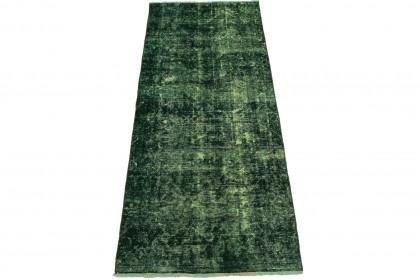 Vintage Teppich Läufer Grün in 260x100cm