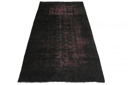 Vintage Teppich Schwarz Pink in 200x100cm