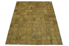 Patchwork Teppich Beige in 210x160cm