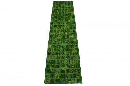 Patchwork Teppich Grün in 300x70cm 1001-2965
