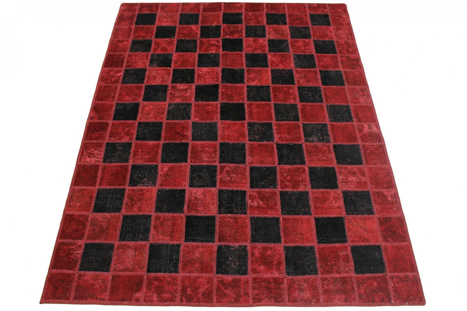 patchwork teppich rot schwarz in 230x160cm 1001 2976 bei kaufen. Black Bedroom Furniture Sets. Home Design Ideas