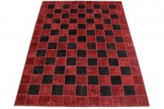 Patchwork Teppich Rot Schwarz in 230x160cm