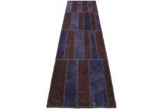 Patchwork Teppich Läufer Rot Lila in 300x80cm