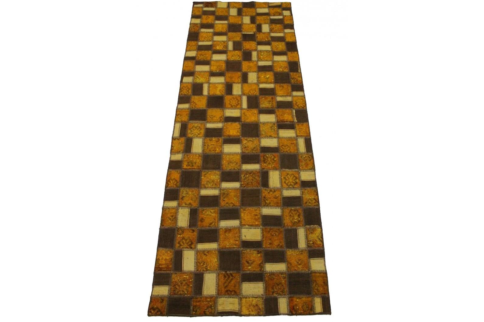 patchwork teppich braun rost in 230x90cm 1001 2982 bei. Black Bedroom Furniture Sets. Home Design Ideas