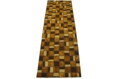 Patchwork Teppich Braun Rost Läufer in 230x90cm