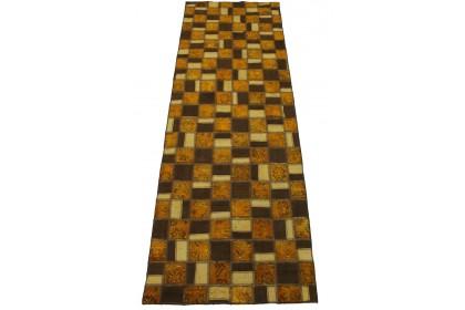 Patchwork Teppich Braun Rost in 230x90cm 1001-2982