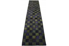 Patchwork Teppich Läufer Lila Oliv in 300x70cm