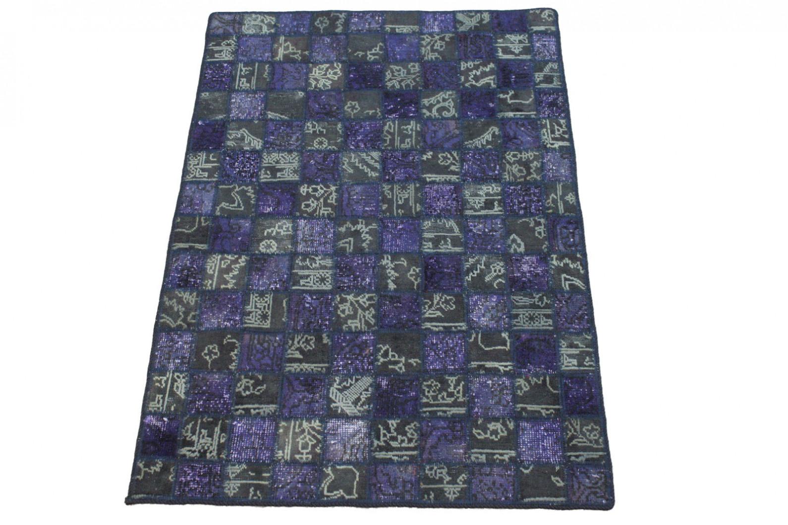 Patchwork Teppich Lila Grau in 150x100cm (1001-2988) bei carpetido ...