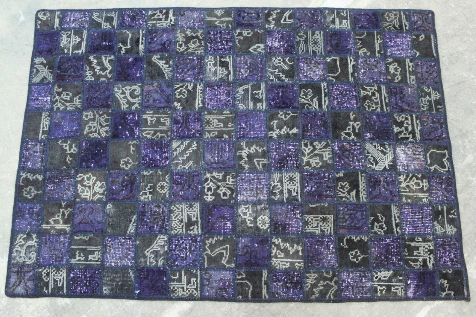 Patchwork Teppich Lila Grau In Xcm With Teppich Lila Grau