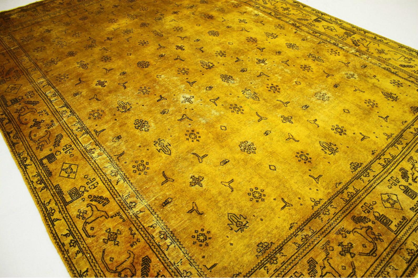 vintage teppich gold in 340x250cm 1001 3001 bei. Black Bedroom Furniture Sets. Home Design Ideas
