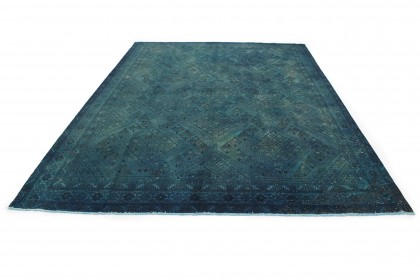 Vintage Teppich Blau in 360x260cm