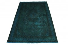 Vintage Teppich Blau Türkis in 270x180cm