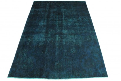 Vintage Teppich Blau in 300x210cm
