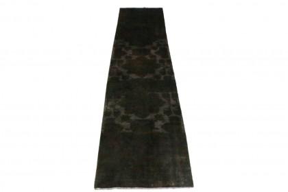 Vintage Teppich Schwarz in 360x90cm 1001-3187