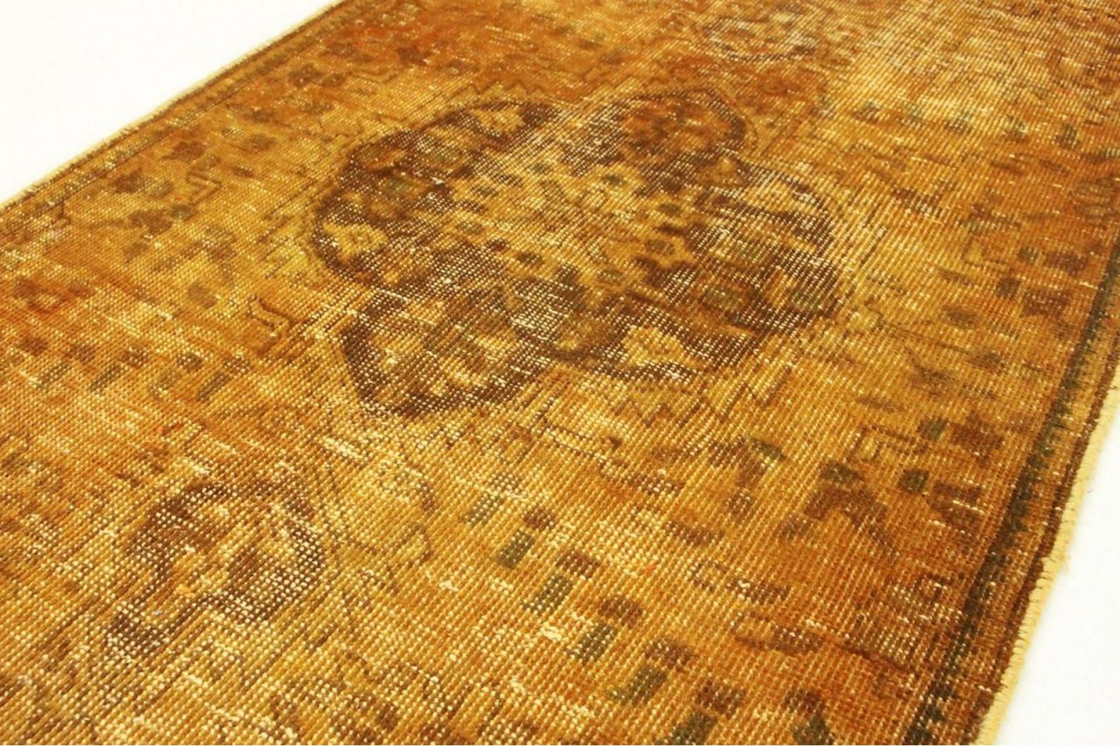 vintage teppich braun curry in 140x90cm 1001 3194 bei kaufen. Black Bedroom Furniture Sets. Home Design Ideas