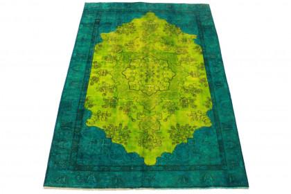 Vintage Teppich Grün Türkis in 270x190cm