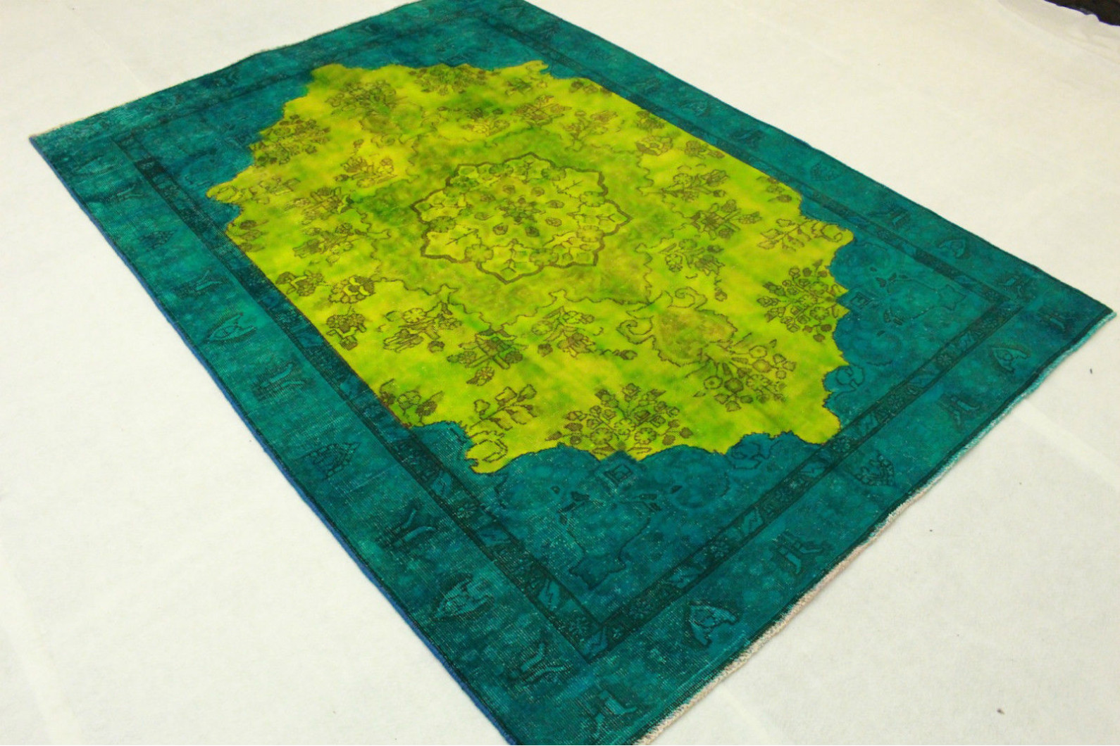 Vintage Rug Green Turquoise In 270x190cm 1001 3203 Buy