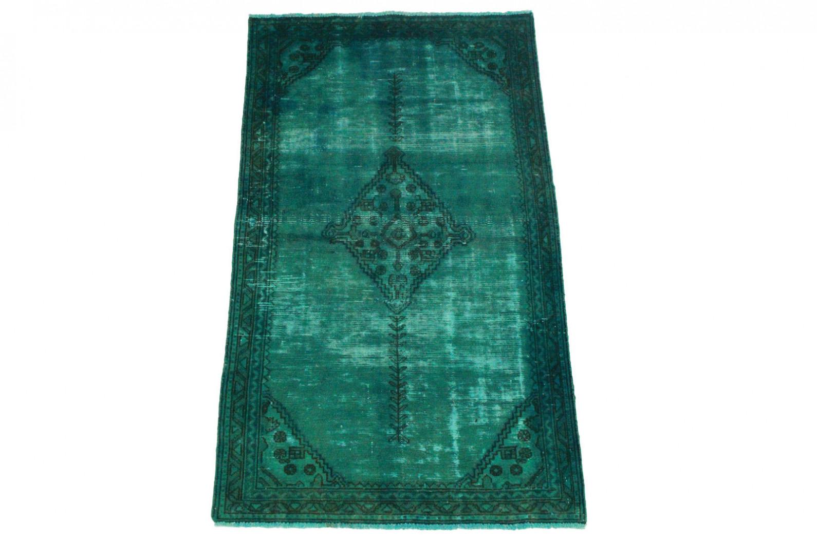 vintage teppich blau t rkis in 170x100cm 1001 3230 bei