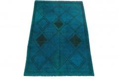 Vintage Teppich Blau in 220x140cm