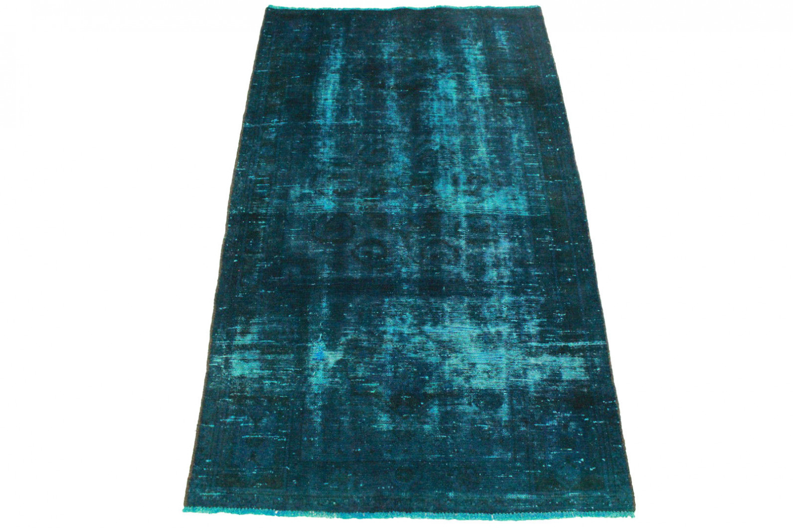 Vintage Teppich Blau in 190x110cm (1 / 5)