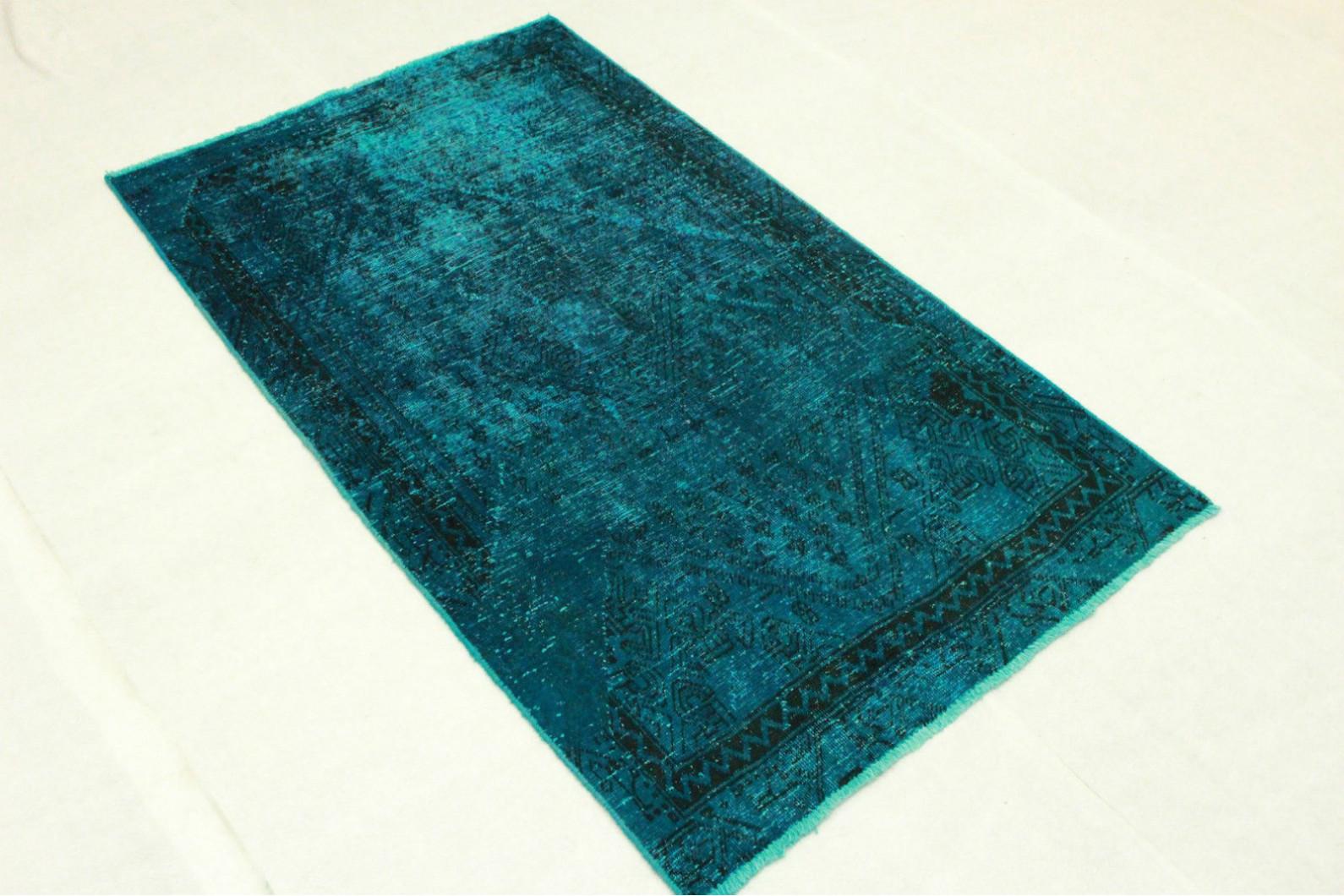 vintage teppich t rkis in 190x110cm 1001 3244 bei. Black Bedroom Furniture Sets. Home Design Ideas
