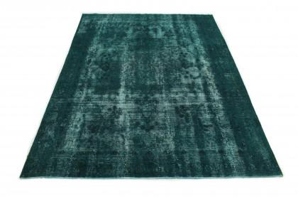 Vintage Teppich Grün Türkis in 370x270cm