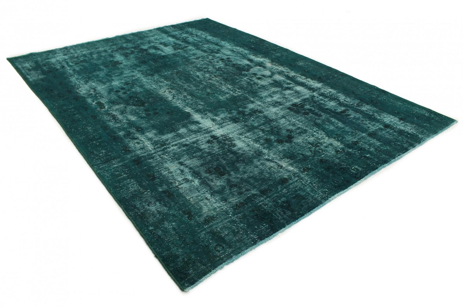vintage teppich gr n t rkis in 370x270cm 1001 3254 bei kaufen. Black Bedroom Furniture Sets. Home Design Ideas