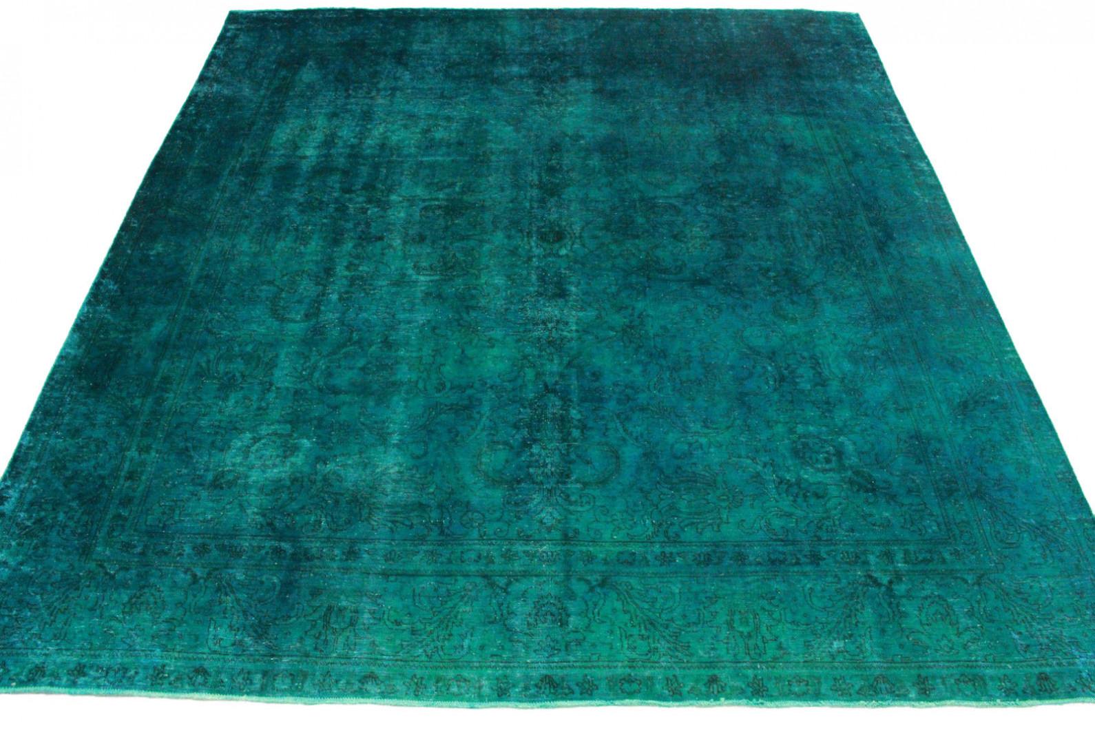 vintage teppich gr n t rkis in 380x330cm 1001 3260 bei kaufen. Black Bedroom Furniture Sets. Home Design Ideas