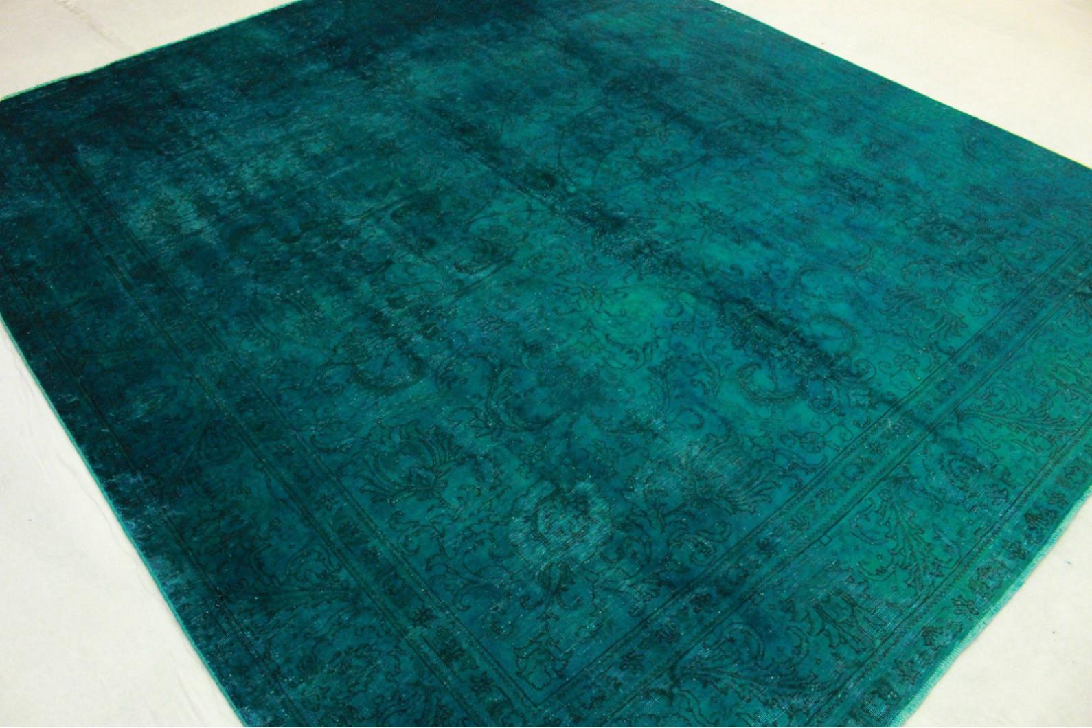 vintage teppich gr n t rkis in 380x330cm 1001 3260 bei. Black Bedroom Furniture Sets. Home Design Ideas
