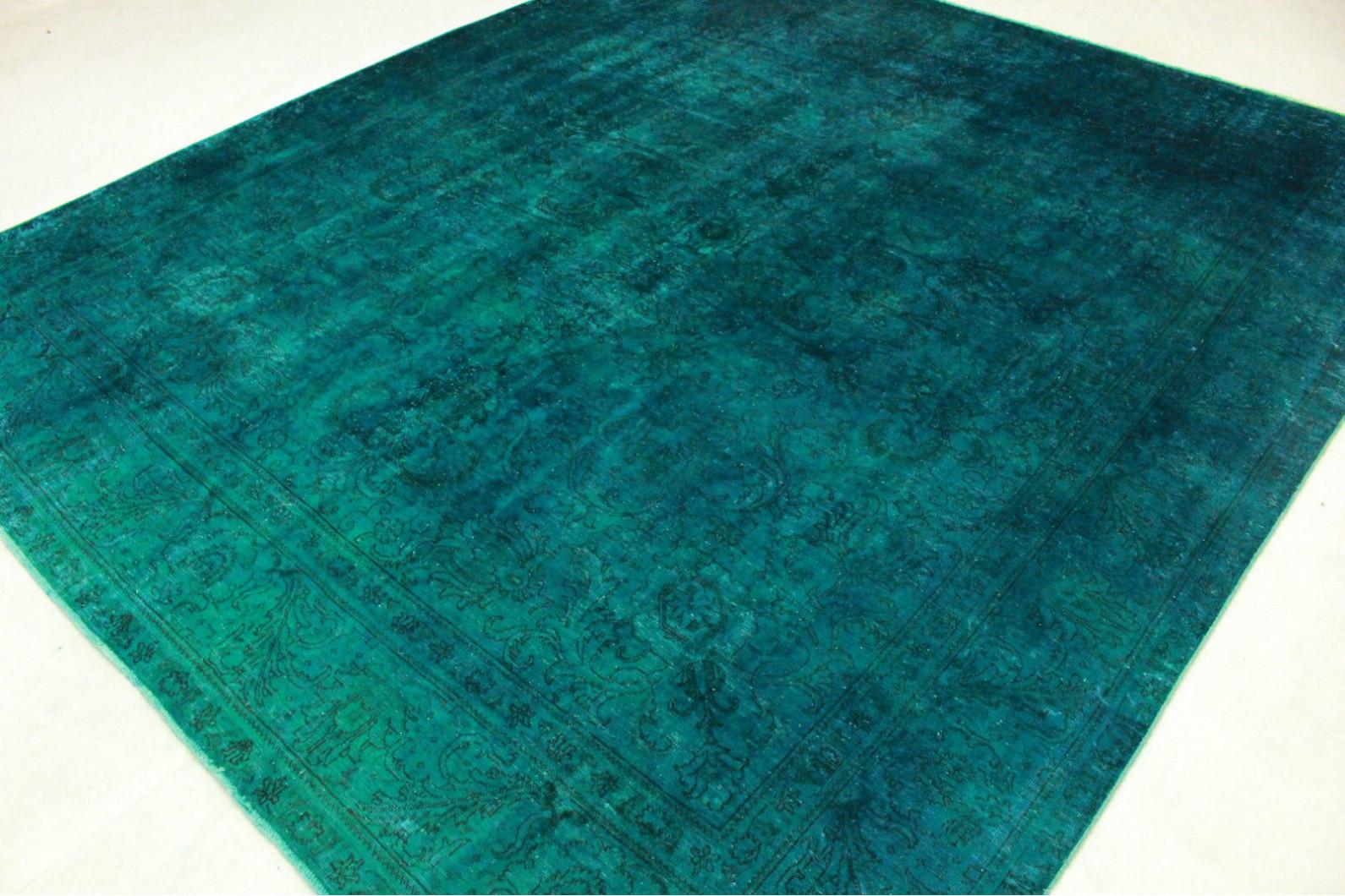... Vintage Teppich Grün Türkis In 380x330cm (2/4) ...