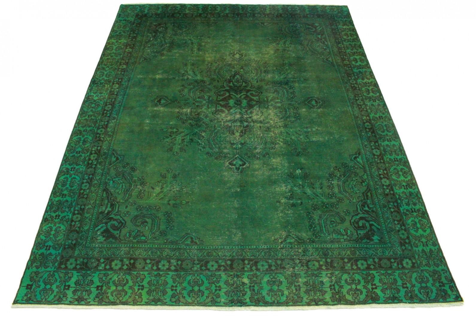 Vintage Teppich Grün in 370x280cm