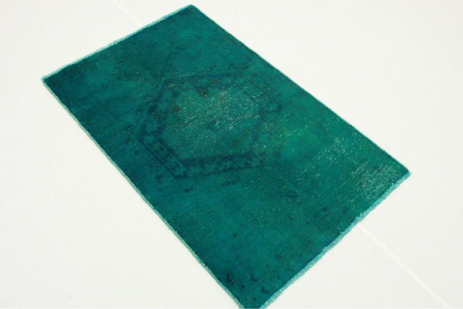 vintage teppich blau t rkis in 130x80cm 1001 3275 bei kaufen. Black Bedroom Furniture Sets. Home Design Ideas