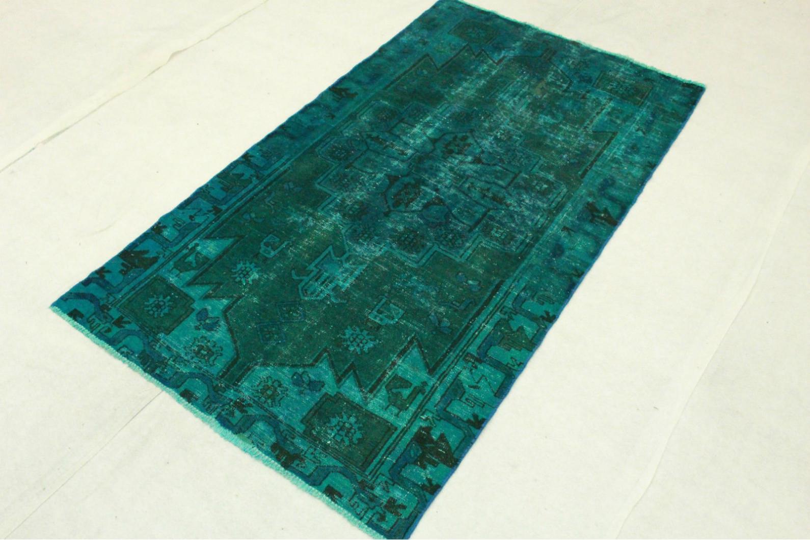 vintage teppich blau t rkis in 200x110cm 1001 3281 bei. Black Bedroom Furniture Sets. Home Design Ideas