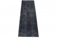 Vintage Teppich Läufer Lila in 280x90cm