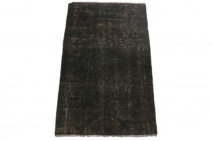 Vintage Teppich Schwarz in 120x70cm