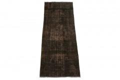 Vintage Teppich Läufer Schwarz in 170x60cm