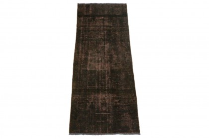 Vintage Teppich Schwarz in 170x60cm 1001-3306