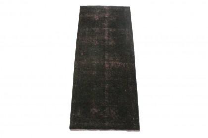 Vintage Teppich Schwarz in 160x60cm 1001-3308