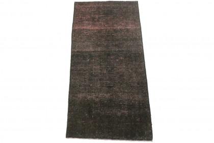 Vintage Teppich Schwarz Rosa in 170x80cm 1001-3309