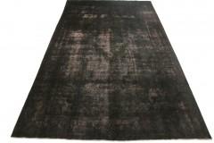 Vintage Teppich Schwarz Rosa in 480x280cm