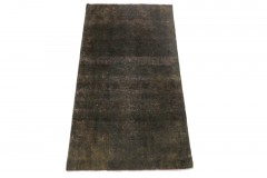Vintage Teppich Schwarz in 200x110cm