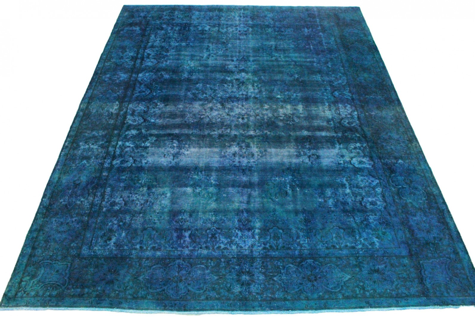 vintage teppich blau in 400x300cm 1001 3322 bei kaufen. Black Bedroom Furniture Sets. Home Design Ideas