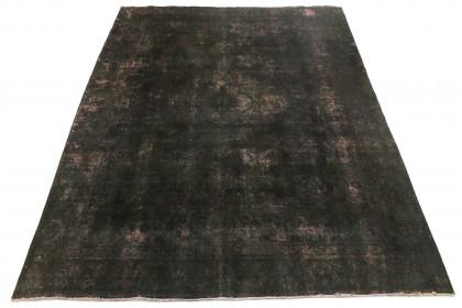 Vintage Teppich Schwarz Rosa in 380x270cm