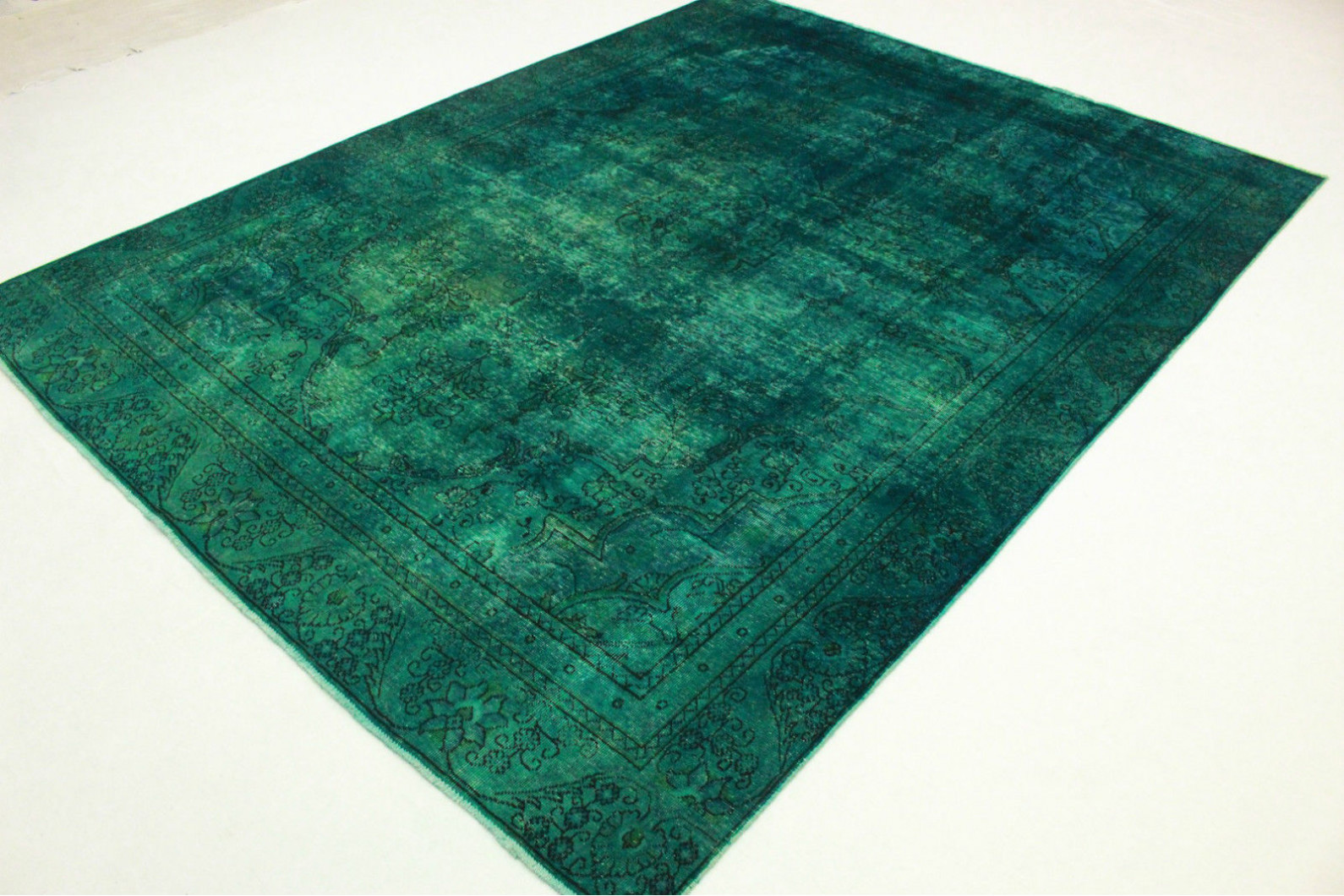 vintage teppich t rkis in 360x270cm 1001 3347 bei kaufen. Black Bedroom Furniture Sets. Home Design Ideas