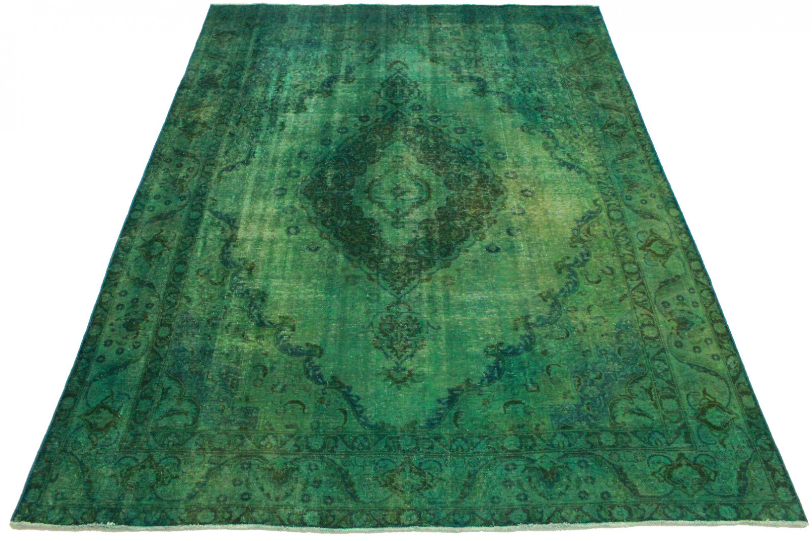 Vintage Teppich Grün in 380x280cm