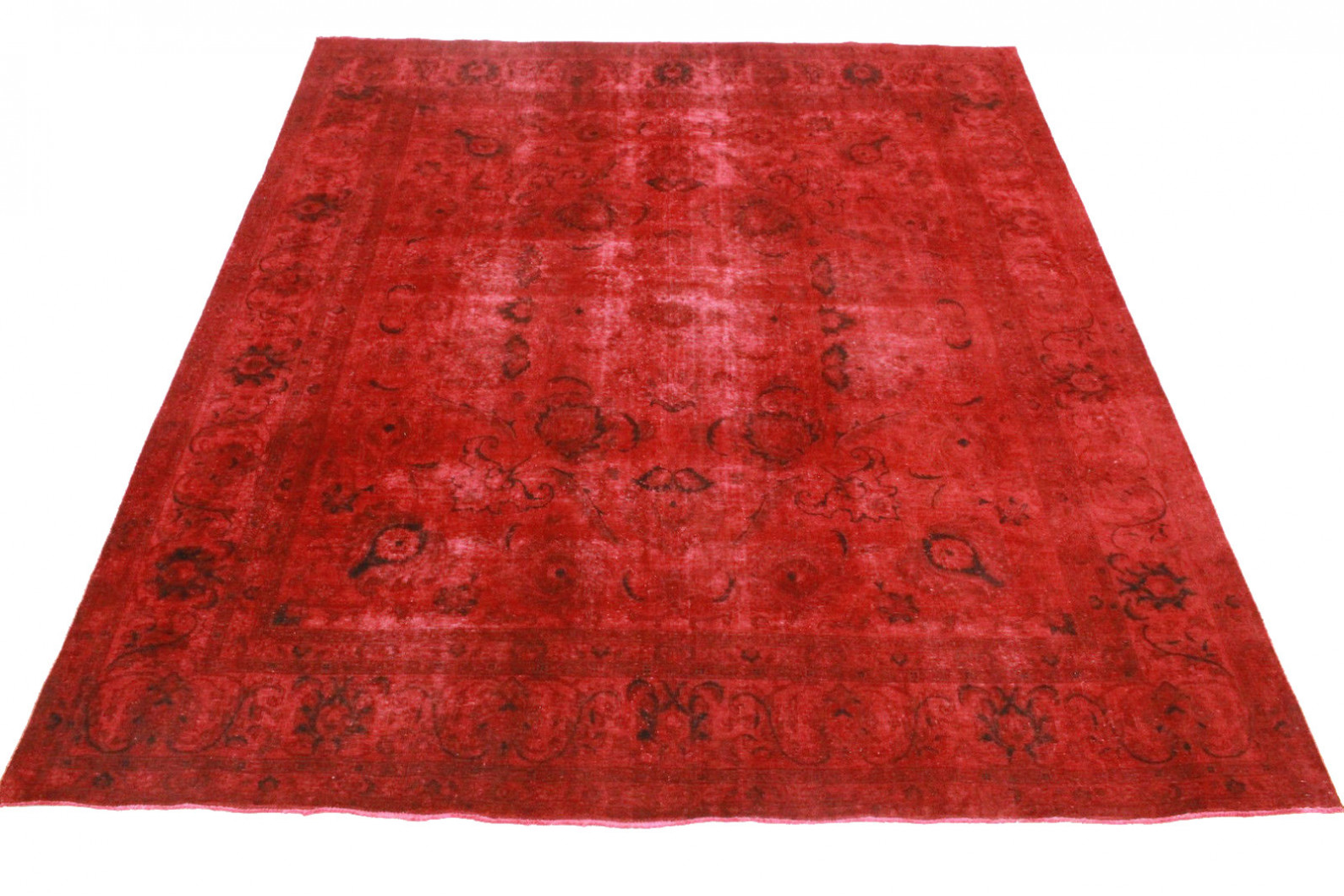 vintage teppich rot in 340x290cm 1001 3365 bei carpetido. Black Bedroom Furniture Sets. Home Design Ideas