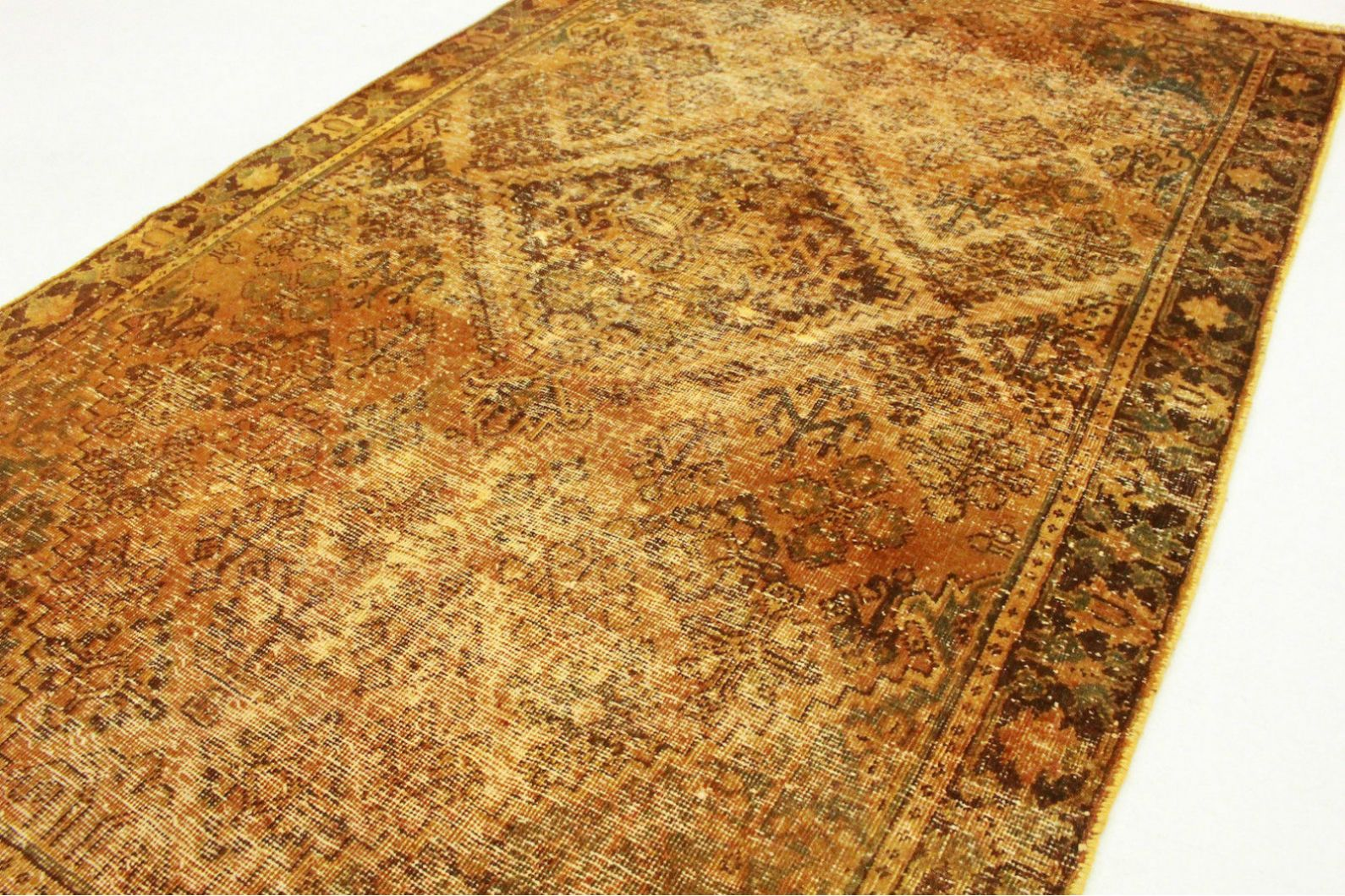 vintage teppich orange braun in 190x120cm 1001 3424 bei kaufen. Black Bedroom Furniture Sets. Home Design Ideas