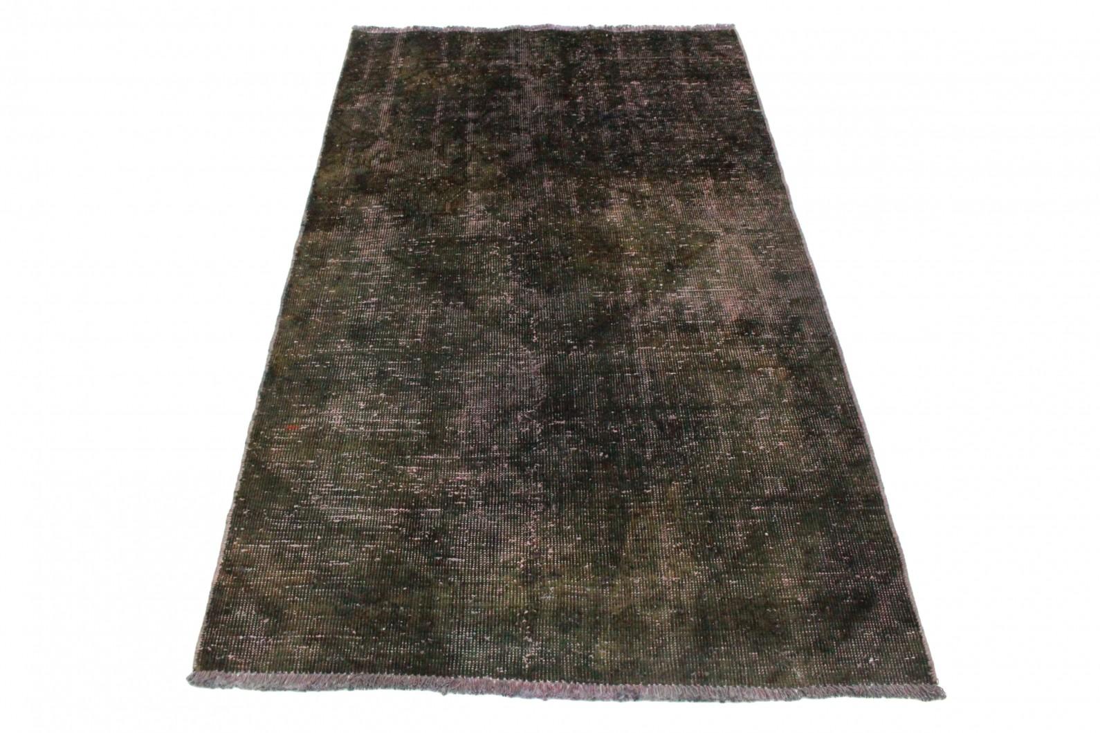 Vintage Teppich Oliv Schlamm in 160x90