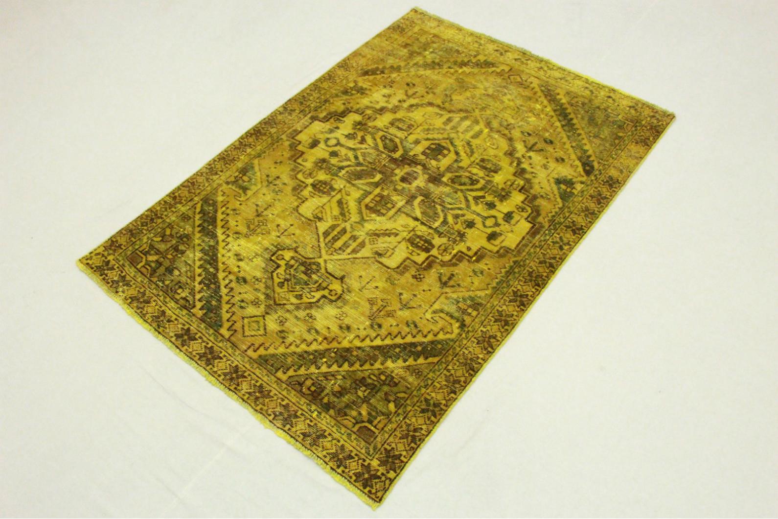 vintage teppich gold in 190x130cm 1001 3470 bei. Black Bedroom Furniture Sets. Home Design Ideas